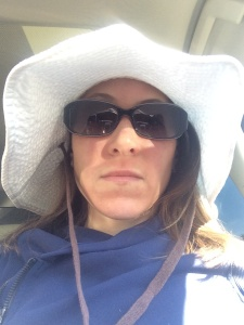 My incognito gear. So I don't scare anyone on the Bainbridge Ferry.
